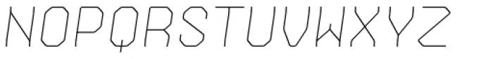 Gerusa UltraLight Italic Font UPPERCASE