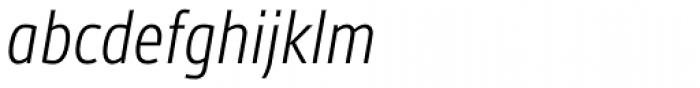 Gesta Condensed Light Italic Font LOWERCASE
