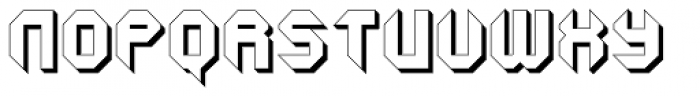 GetaRobo Closed Extruded Font UPPERCASE