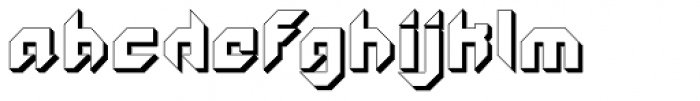 GetaRobo Closed Extruded Font LOWERCASE
