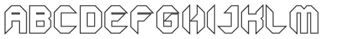 GetaRobo Closed Outline Font UPPERCASE