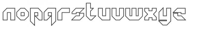 GetaRobo Closed Outline Font LOWERCASE