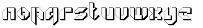 GetaRobo Open Extruded Font LOWERCASE