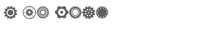 gears doodlebat Font OTHER CHARS