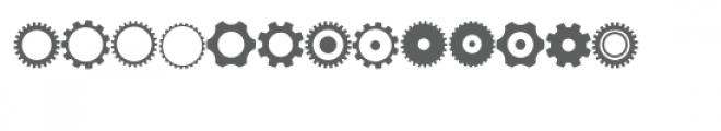 gears doodlebat Font UPPERCASE