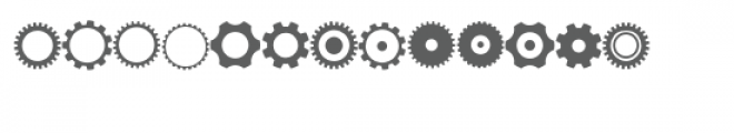 gears doodlebat Font LOWERCASE