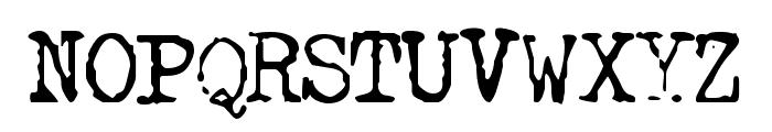 GF Halda Normal Font UPPERCASE
