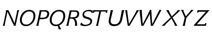 GFS Neohellenic Italic Font UPPERCASE