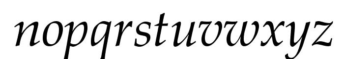 GFSDidot-Italic Font LOWERCASE