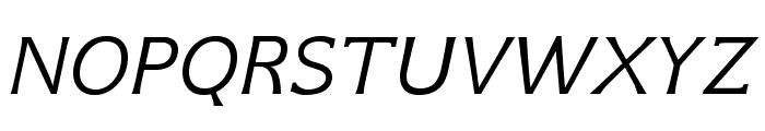 GFSNeohellenic-Italic Font UPPERCASE