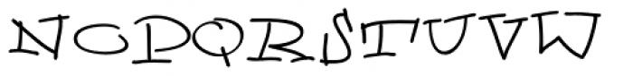 Gf Scribbles B Font UPPERCASE