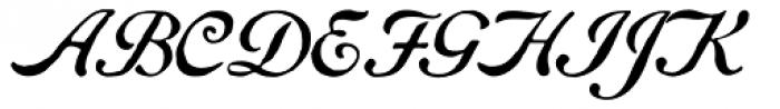 Gf Script No 5 Font UPPERCASE