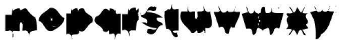 Gf Spacetrash Font LOWERCASE