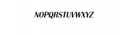 GGrattanpron-BoldItalic.ttf Font UPPERCASE
