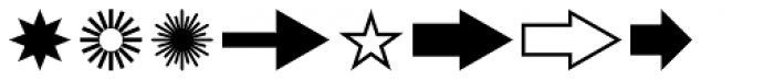 GG Dingbats Font LOWERCASE
