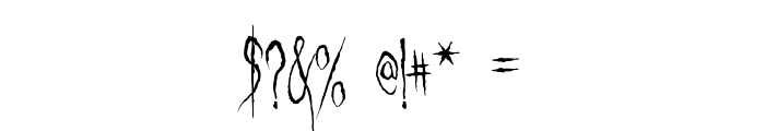 Ghastly Panic Font OTHER CHARS