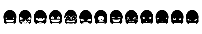 Ghost Smileys Font UPPERCASE