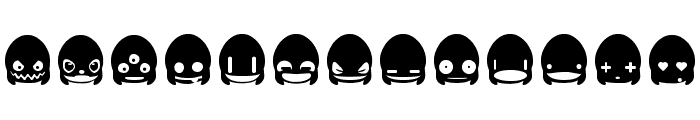 Ghost Smileys Font LOWERCASE