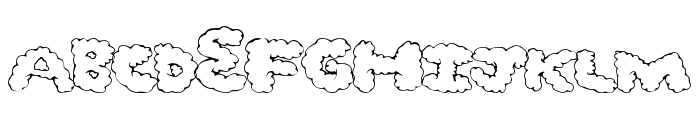 GhostClouds Font UPPERCASE