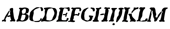 GhostTown BlackItalic Font UPPERCASE
