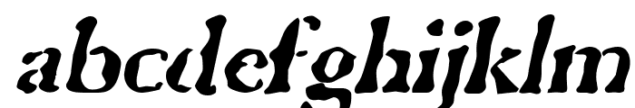 GhostTown BlackItalic Font LOWERCASE