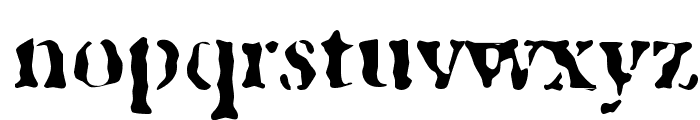 GhostTown Font LOWERCASE