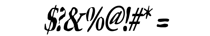 GhostTownCondensed Italic Font OTHER CHARS