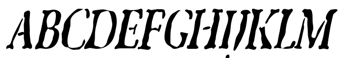 GhostTownCondensed Italic Font UPPERCASE