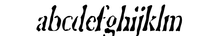 GhostTownCondensed Italic Font LOWERCASE