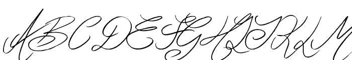 Ghosting Font UPPERCASE