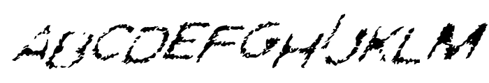 Ghostly Prints Italic Font LOWERCASE