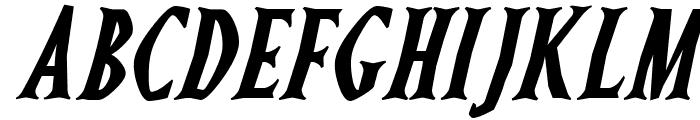 Ghostz Italic Font UPPERCASE