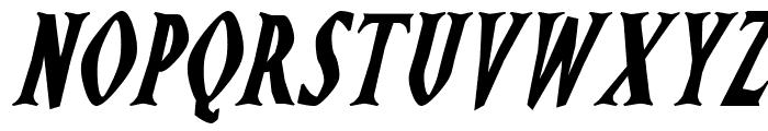 Ghostz Italic Font LOWERCASE