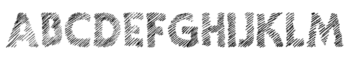 Ghotic Sketch Font UPPERCASE