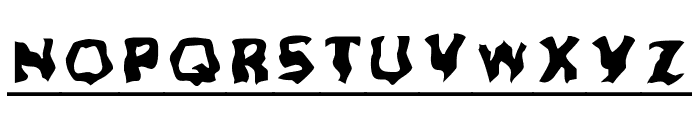 Ghoul Headline Font LOWERCASE