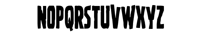 Ghoulish Intent Condensed Font UPPERCASE