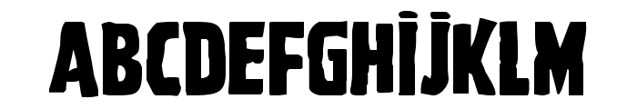 Ghoulish Intent Expanded Font UPPERCASE