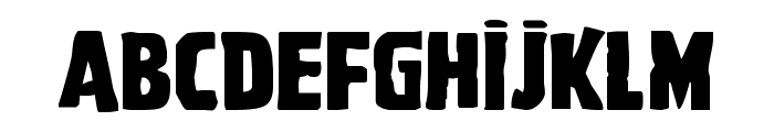 Ghoulish Intent Expanded Font LOWERCASE