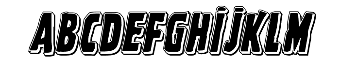 Ghoulish Intent Punch Italic Font UPPERCASE
