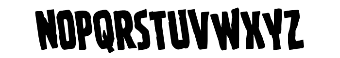 Ghoulish Intent Rotated Font UPPERCASE