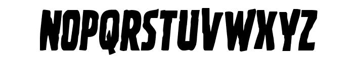 Ghoulish Intent Semi-Italic Font UPPERCASE