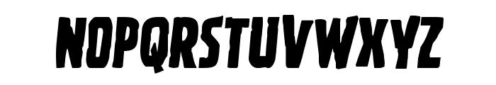 Ghoulish Intent Semi-Italic Font LOWERCASE