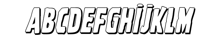 Ghoulish Intent Shadow Italic Font UPPERCASE