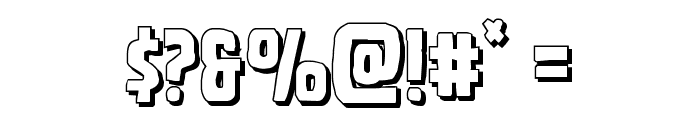 Ghoulish Intent Shadow Font OTHER CHARS