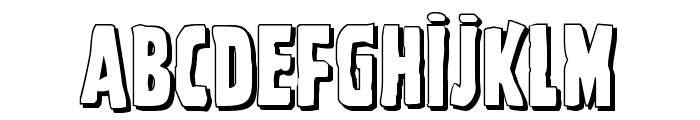 Ghoulish Intent Shadow Font UPPERCASE