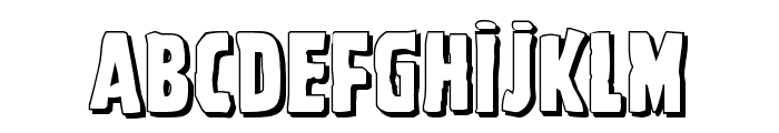 Ghoulish Intent Shadow Font LOWERCASE