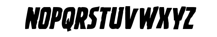 Ghoulish Intent Shift Italic Font UPPERCASE