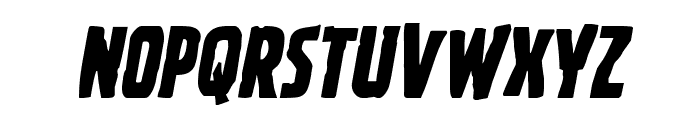 Ghoulish Intent Shift Italic Font LOWERCASE