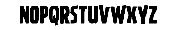 Ghoulish Intent Shift Font UPPERCASE
