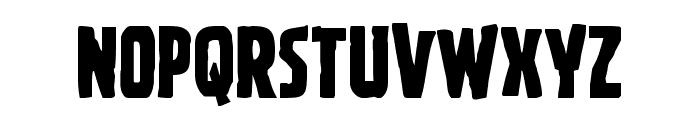 Ghoulish Intent Shift Font LOWERCASE